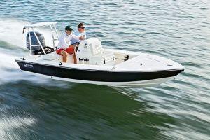 Hewes boat cruising